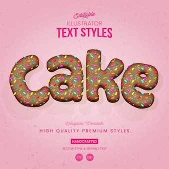 Birthday cake text style