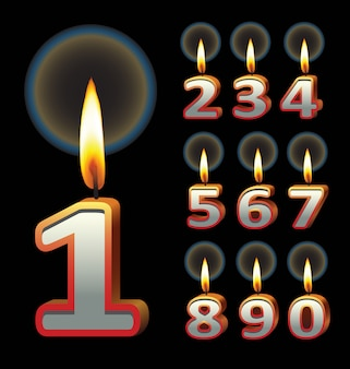 Birthday candles. use for birthday event design.