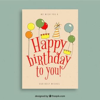 ヴィンテージスタイルの誕生日カード