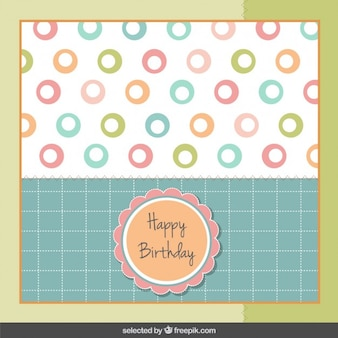 Birthday card in pastel colors