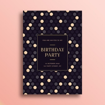 Birthday card template elegant design