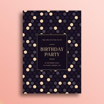 誕生日カードテンプレートエレガントなデザイン
