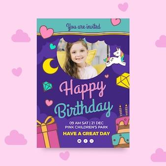 Modello di carta di compleanno