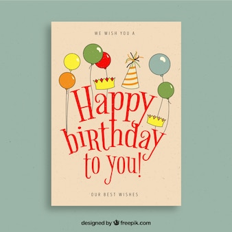 Birthday card in vintage style