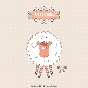 День рождения с милой овец