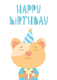 Birthday card with a cat
