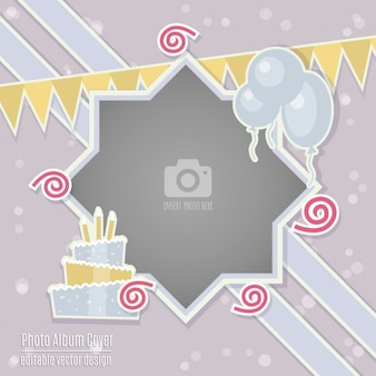 Birthday card with a frame