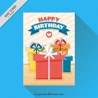 Birthday card with gifts