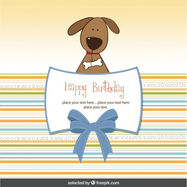 Birthday card with lovely dog