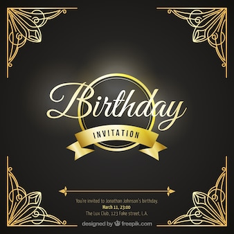 Birthday card with luxury ornaments