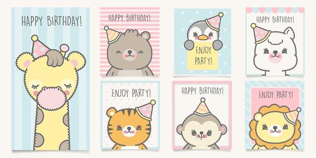 Birthday cards set