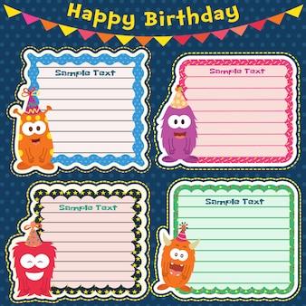 誕生日カードのテンプレート