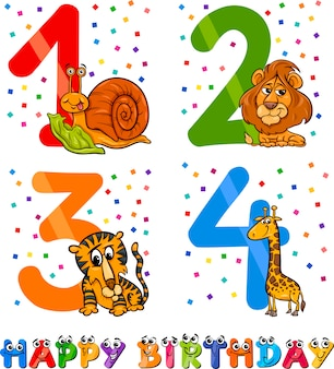 Дизайн мультфильма дня рождения