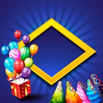 Birthday celebration background, birthday balloon