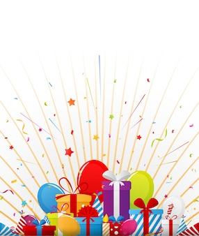 파티 요소와 생일 축 하 배경