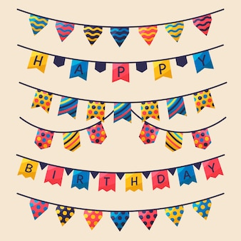 Birthday celebration with party ribbons
