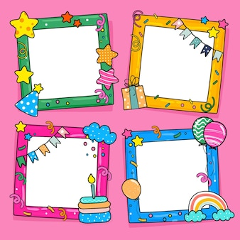 Birthday collage frame collection