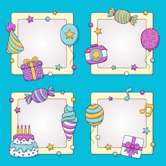 Набор рамок для коллажей на день рождения
