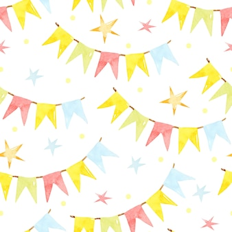 생일 화려한 화환 원활한 패턴