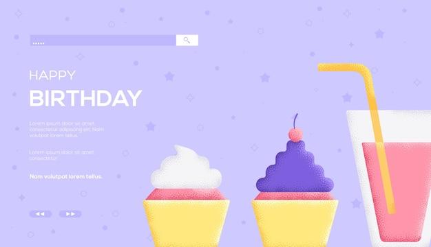 誕生日コンセプトの web テンプレート。