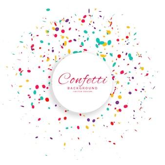 Birthday confetti celebration vector background