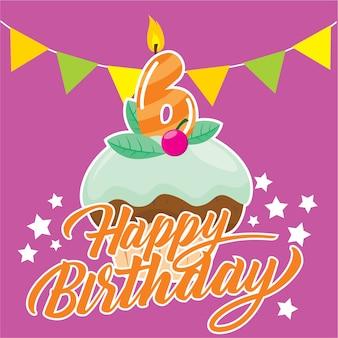 День рождения кекс для шестилетних детей