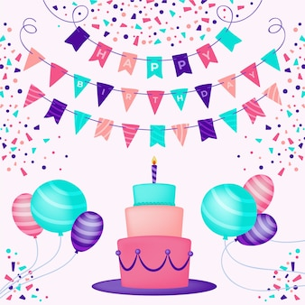 Birthday decoration illustration