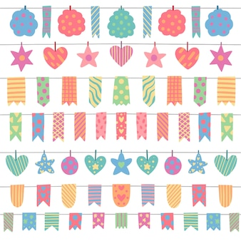 Birthday decoration with colorful design
