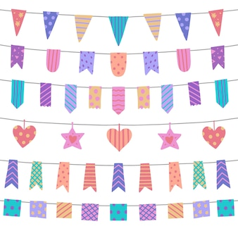 Birthday decoration with colorful ribbon
