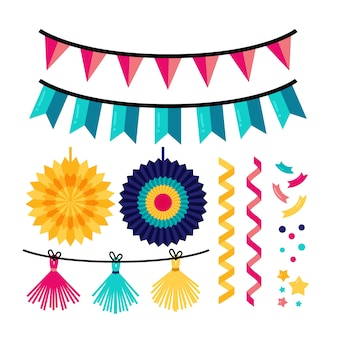 Birthday decoration with garlands