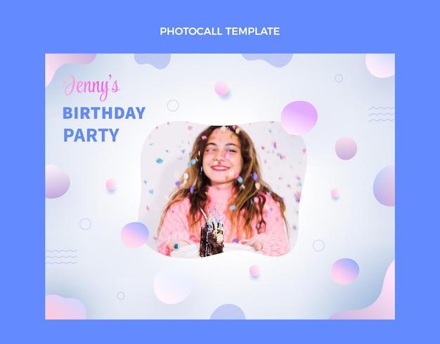 Disegno di compleanno del modello di photocall