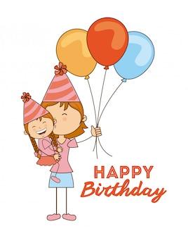 Birthday design over white background vector illustration