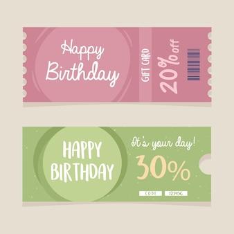 Birthday discount card