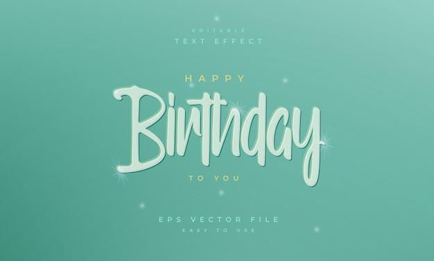 Birthday editable text effect