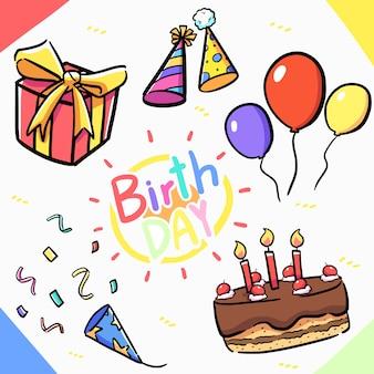 생일 요소 디자인