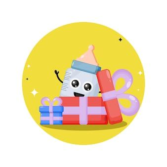 생일 선물 아기 젖꼭지 귀여운 캐릭터 마스코트