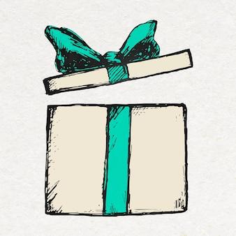カラフルなヴィンテージスタイルの誕生日プレゼントボックスステッカー