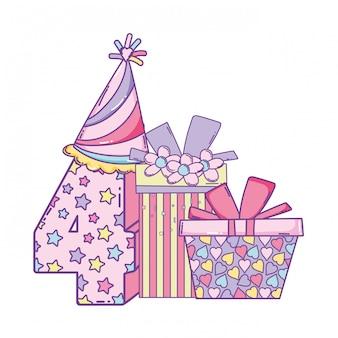 네 번째 생일 선물 상자