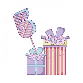 誕生日ギフトボックス数