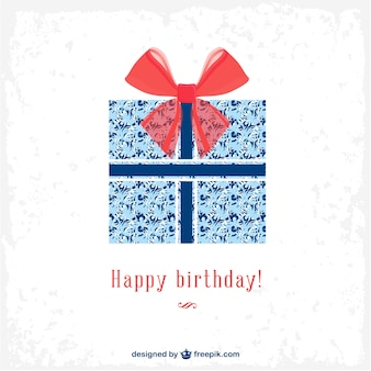 Birthday gift party card