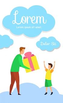 Birthday gift shop flyer