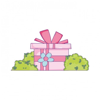 Birthday giftbox cartoon