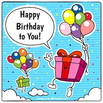 Birthday greeting cartoon