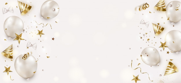 Birthday horizontal background.