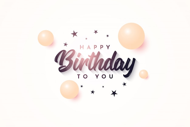 Birthday illustration template design