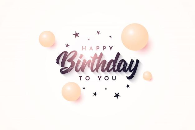 Birthday illustration template design