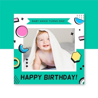 Birthday instagram post template
