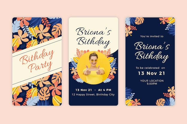 Birthday instagram stories collection