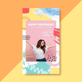 Birthday instagram story template