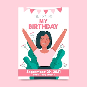 Birthday invitation for birthday girl